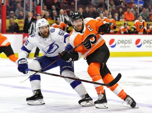 Braydon Coburn, Tampa Bay Lightning Claude Giroux, Philadelphia Flyers