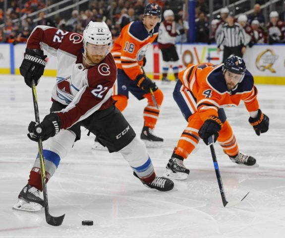 Avalanche forward Colin Wilson