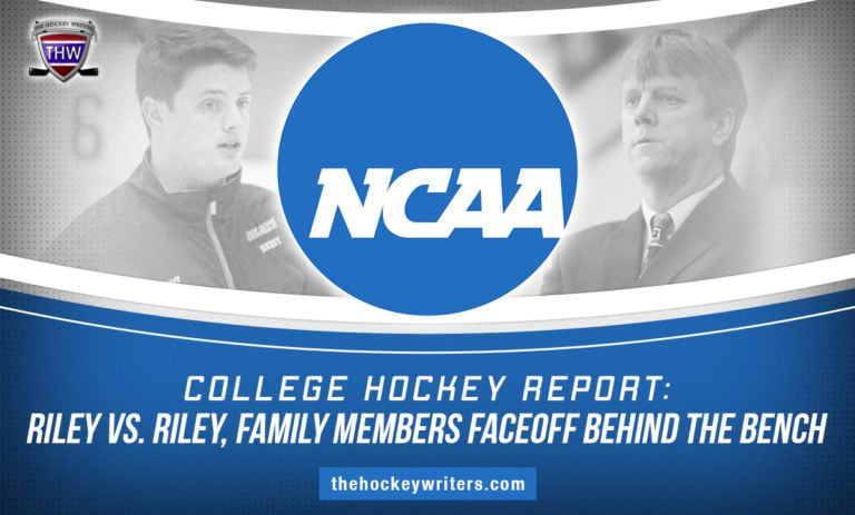 College Hockey Report: Riley vs. Riley, Family Members Faceoff Behind the Bench Army Head Coach Brian Riley and Long Island U Head Coach Brett Riley