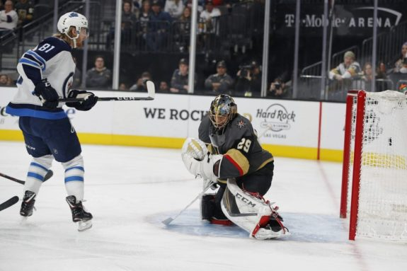 Winnipeg Jets Kyle Connor Vegas Golden Knights Marc-Andre Fleury
