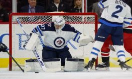 Hellebuyck Makes 35 Saves to Lead Jets Over Blues 4-2