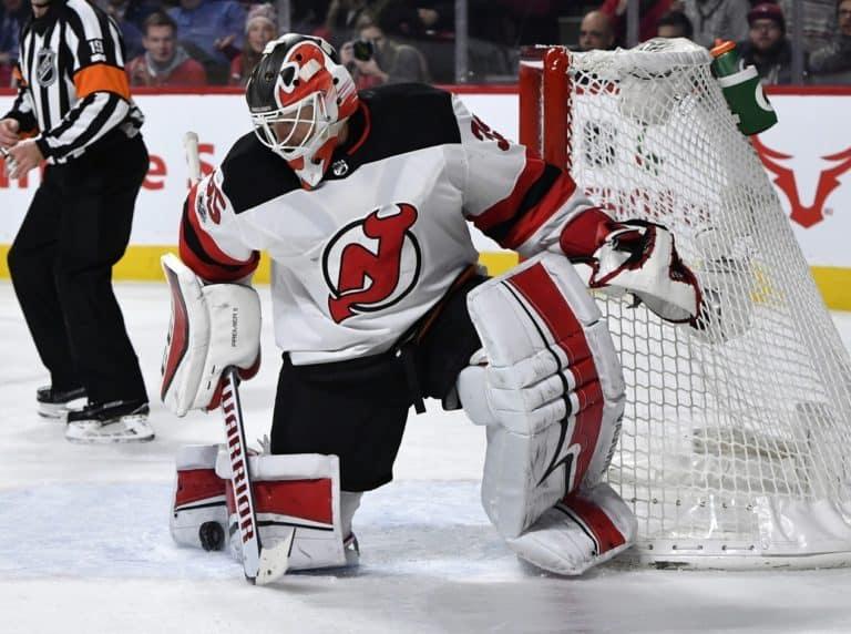 New Jersey Devils goalie Cory Schneider