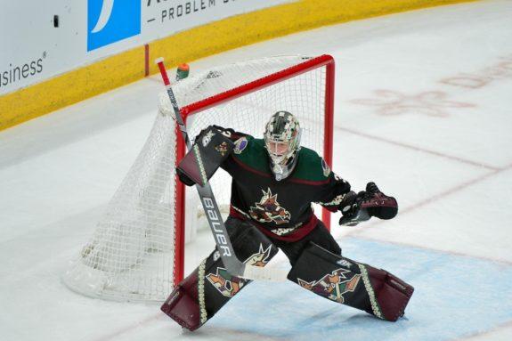 Arizona Coyotes goaltender Antti Raanta