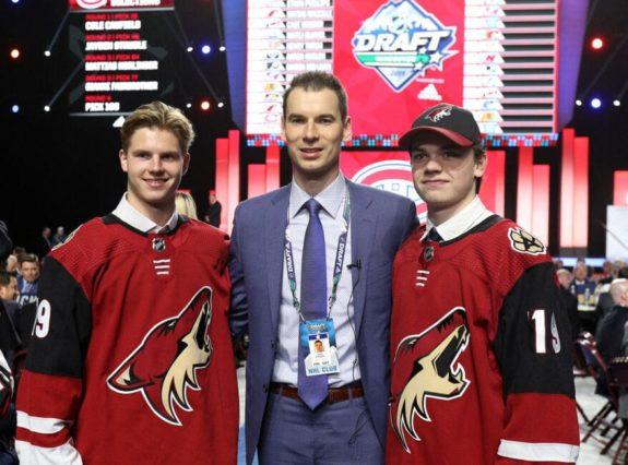 Victor Soderstrom John Chayka Carter Berger Arizona Coyotes 2019 NHL Draft