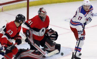Senators Blank Rangers - Anderson With 27-Save Shutout