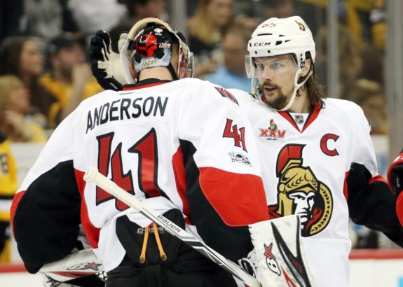 Craig Anderson and Erik Karlsson - Ottawa Senators