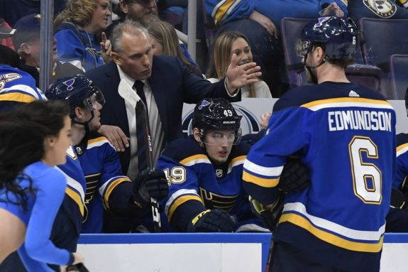 Blues interim head coach Craig Berube