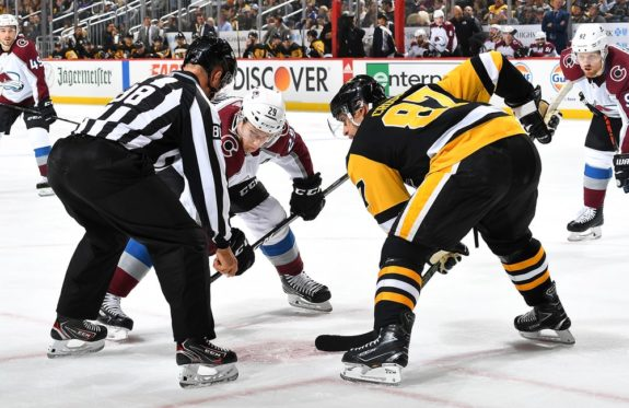 Nathan MacKinnon Colorado Avalanche Sidney Crosby Pittsburgh Penguins