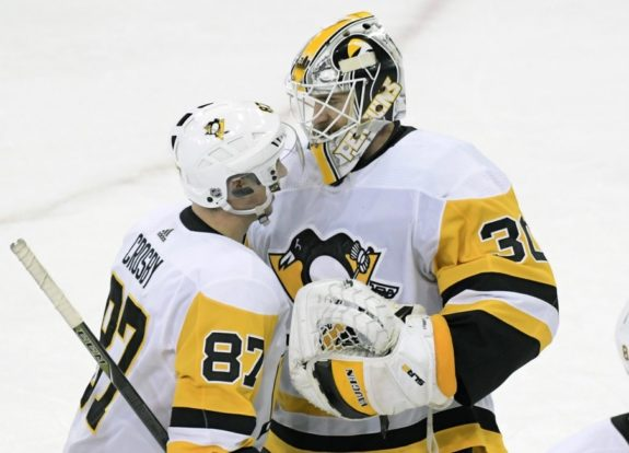 Pittsburgh Penguins Matt Murray Sidney Crosby
