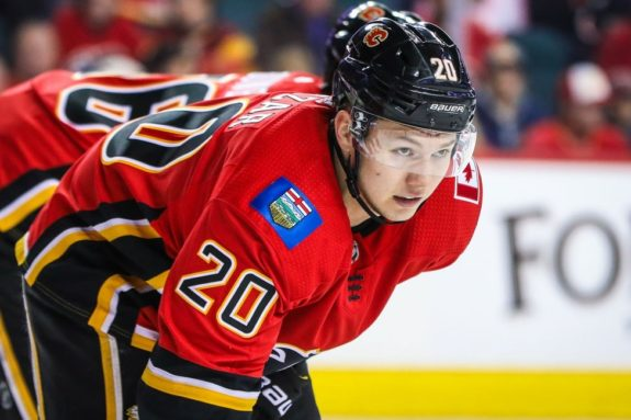 Flames center Curtis Lazar