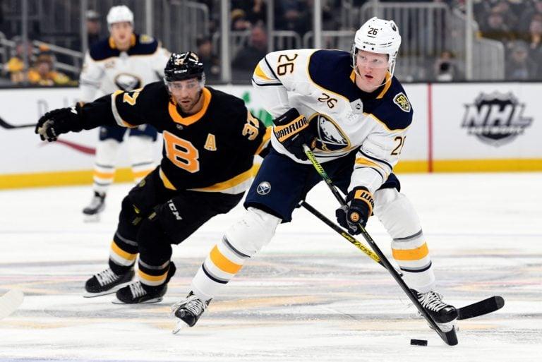 Buffalo Sabres Rasmus Dahlin Boston Bruins Patrice Bergeron