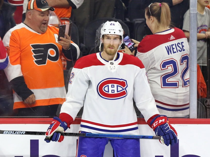 Dale Weise Montreal Canadiens