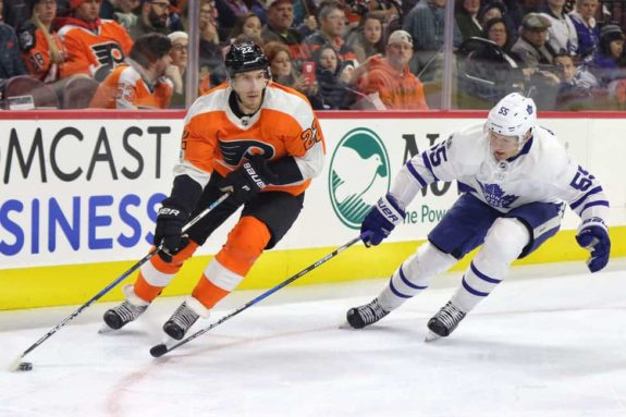Dale Weise Flyers Andreas Borgman Maple Leafs