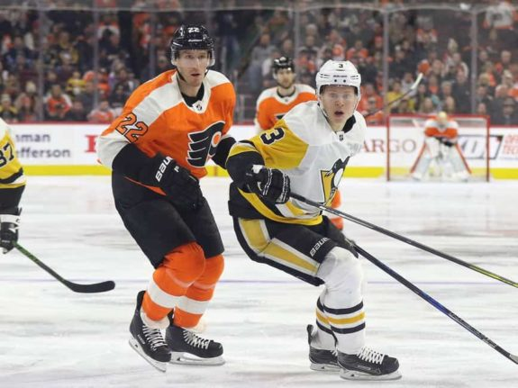 Dale Weise Flyers Olli Maata Penguins