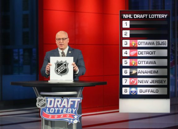 2020 NHL Draft Lottery, 2nd Round to determine 1st pick