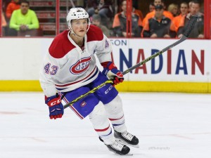 Montreal Canadiens forward Daniel Carr