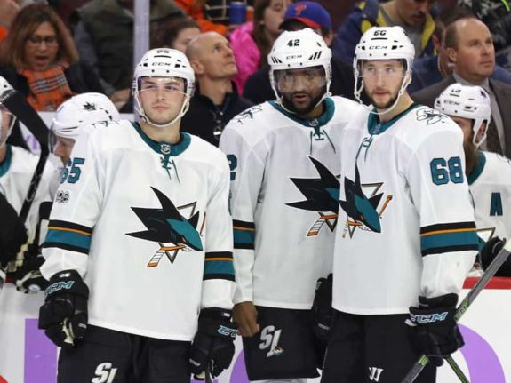 Daniel O'Regan Joel Ward Melker Karlsson Sharks