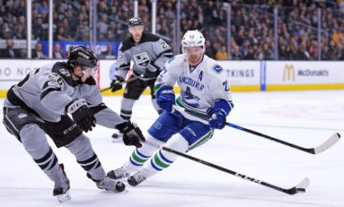 Canucks and Kings Faceoff in China
