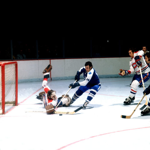 Dave KeonToronto Maple Leafs Ken Dryden Montreal Canadiens