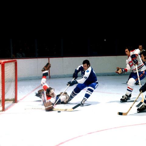Dave KeonToronto Maple Leafs Ken Dryden Montreal Canadiens