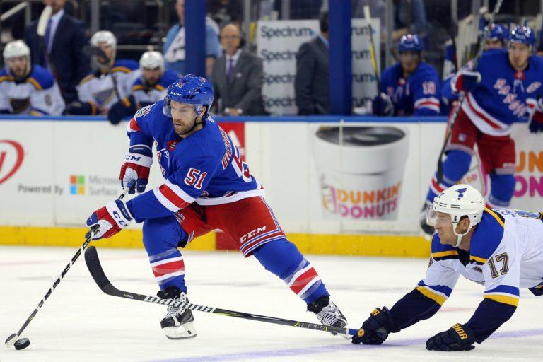 New York Rangers center David Desharnais