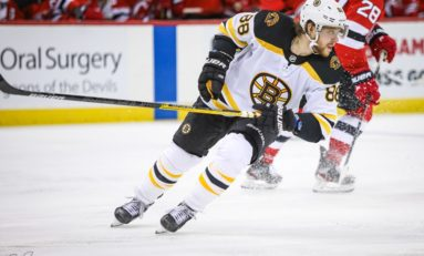 Bruins' Pastrnak Shares Rocket Richard Trophy