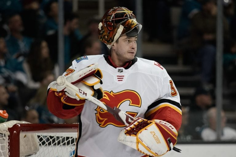 Flames goalie David Rittich