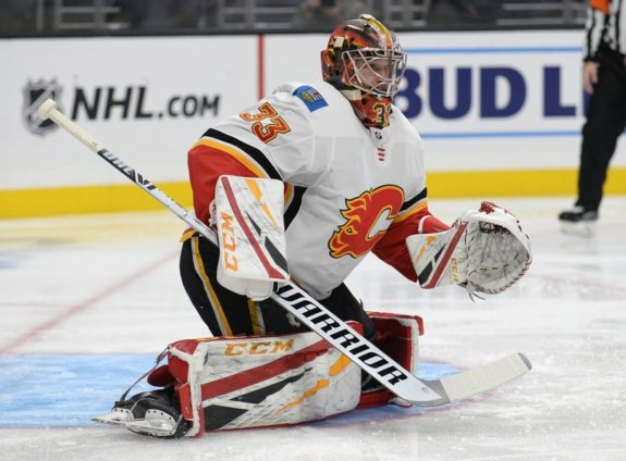 Flames goaltender David Rittich