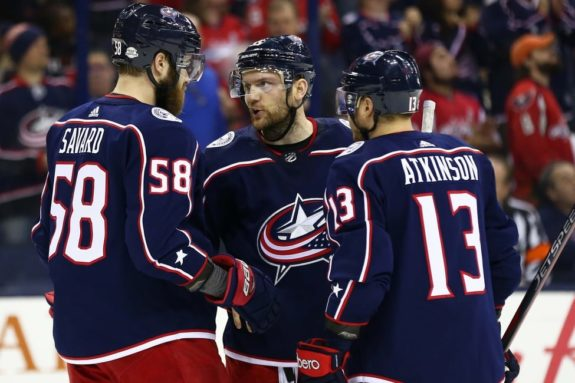 David Savard Mark Letestu Cam Atkinson Blue Jackets
