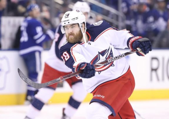 Blue Jackets defenseman David Savard