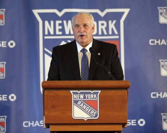 John Davidson, president of the New York Rangers
