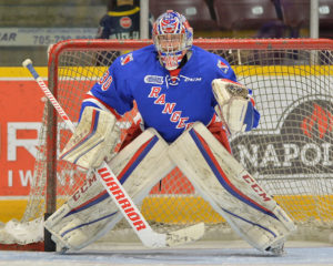 Dawson Carty of the Kitchener Rangers. Photo by Terry Wilson / OHL Images.