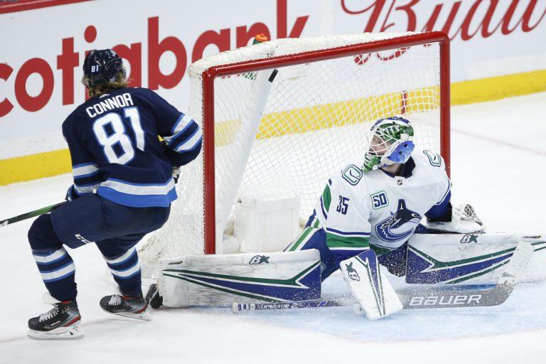 Winnipeg Jets' Kyle Connor Vancouver Canucks Thatcher Demko