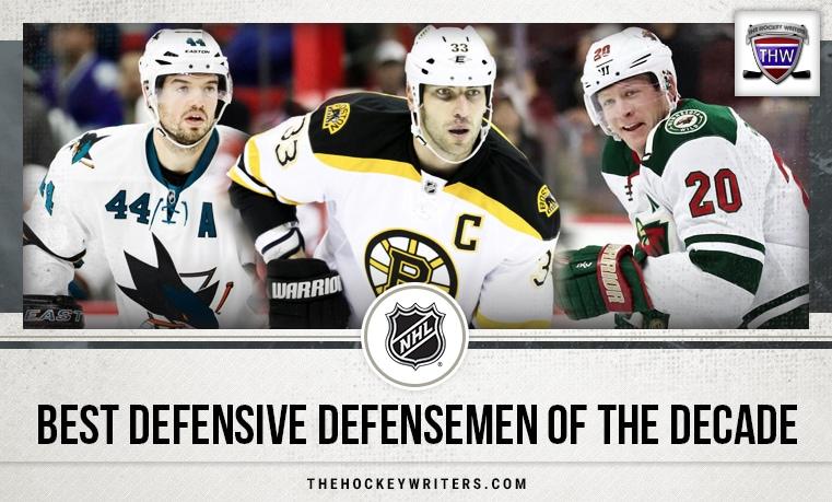 NHL best defensive defensemen of the decade Zdeno Chara, Ryan Suter and Marc-Edouard Vlasic
