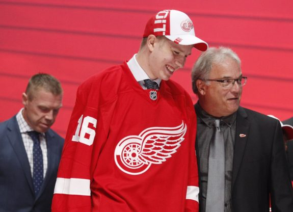 Dennis Cholowski Red Wings first selection of the 2016 entry draft.