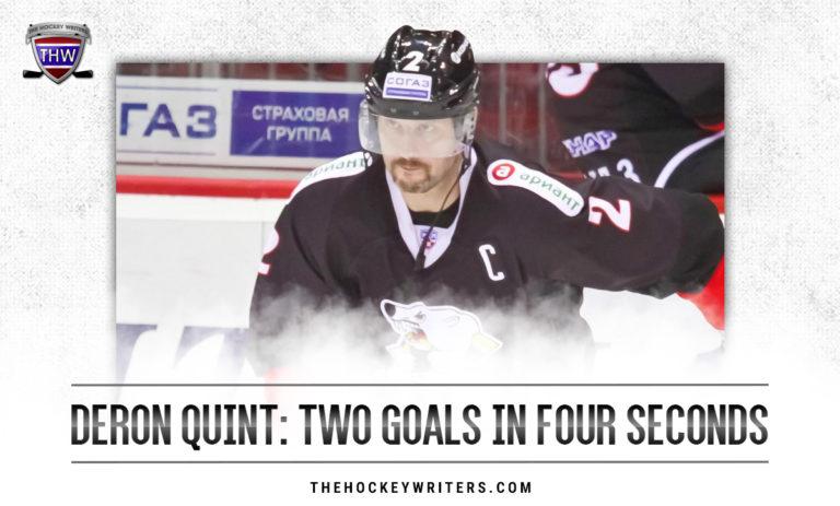 Deron Quint: Two Goals in Four Seconds