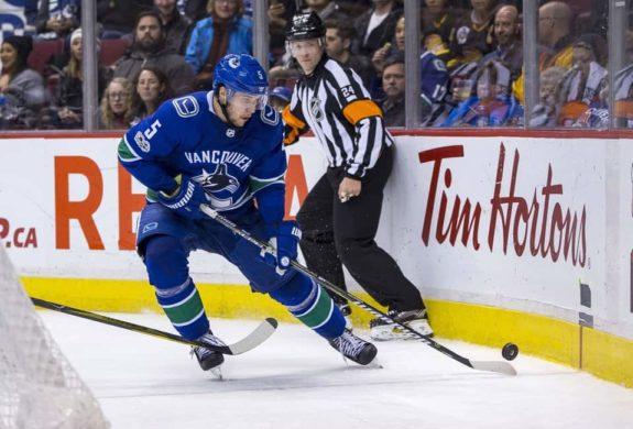 Vancouver Canucks Defenceman Derrick Pouliot