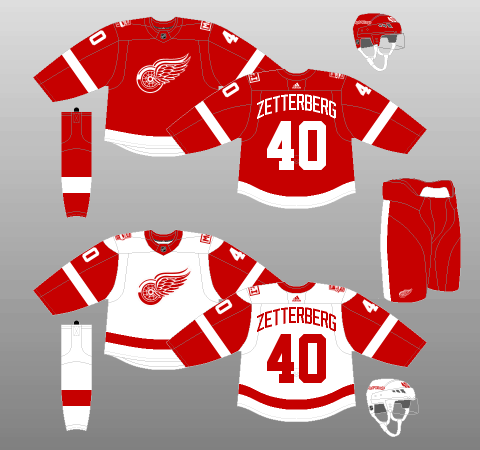 Detroit Red Wings 2017-Present Jerseys