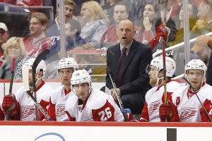 Detroit Red Wings coach Jeff Blashill.