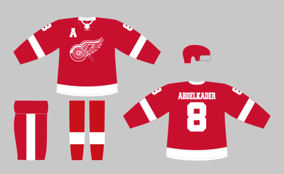 Detroit Red Wings Red Home Jersey Concept