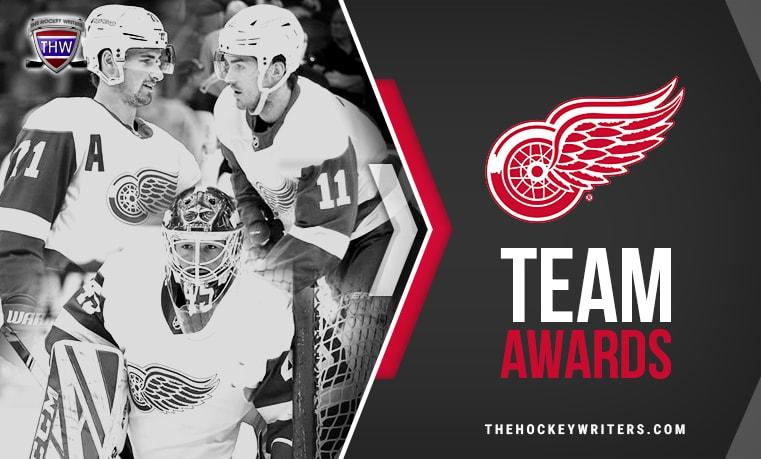 Detroit Red Wings' Team Awards Dylan Larkin, Jonathan Bernier, and Filip Zadina