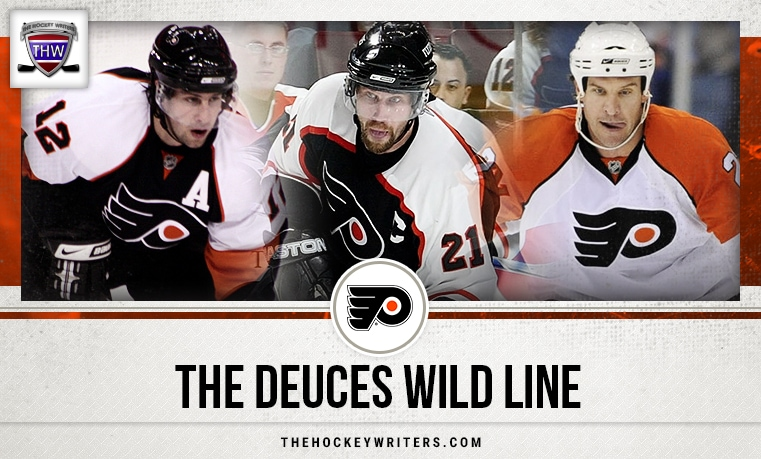 Simon Gagne Peter Forsberg Mike Knuble Philadelphia Flyers: The Deuces Wild Line