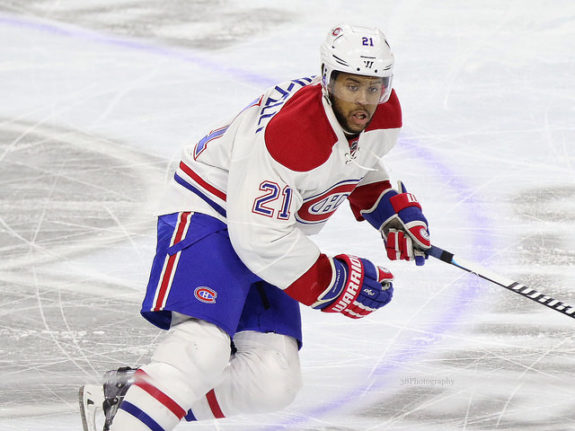 Ex-Montreal Canadiens forward Devante Smith-Pelly