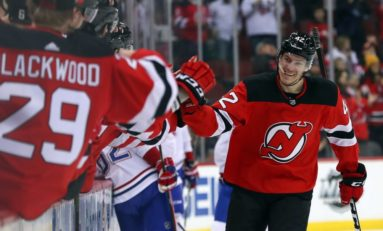 Devils' Bastian Brings His Best in Second NHL Chance