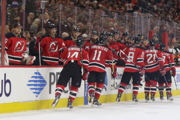 New Jersey Devils bench
