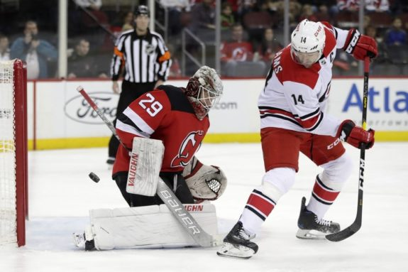 New Jersey Devils MacKenzie Blackwood Carolina Hurricanes Justin Williams