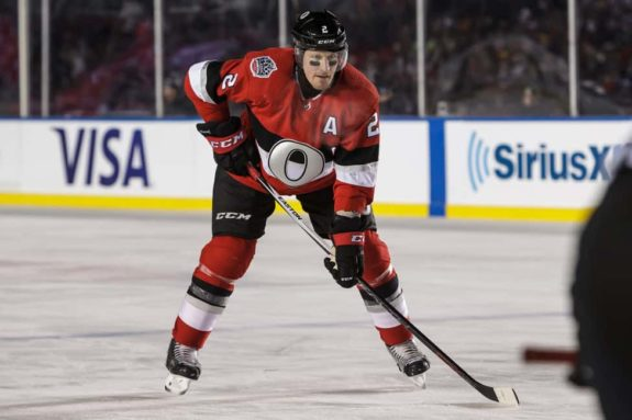 Dion Phaneuf #2 of the Ottawa Senators