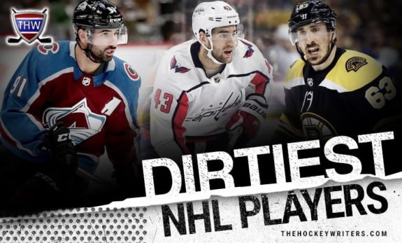 Dirtiest NHL Players Nazem Kadri Tom Wilson Brad Marchand