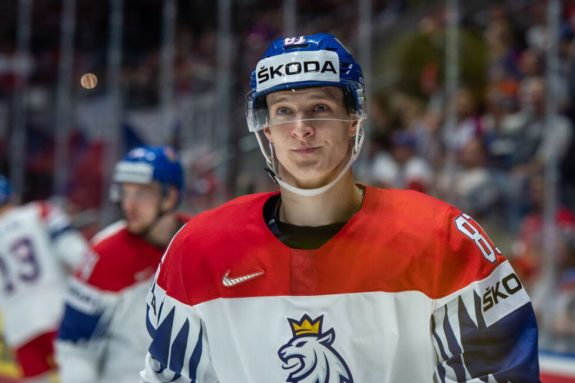 Dominik Kubalik of Czech Republic