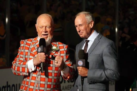 Don Cherry, Ron MacLean, Hockey Night in Canada, Hockey Broadcasting